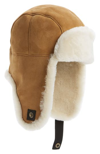 UGG® Genuine Shearling Trapper Hat