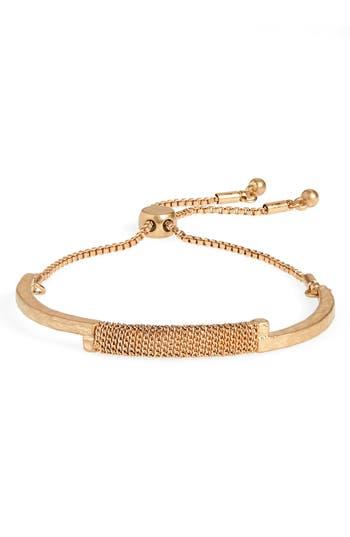 Canvas Jewelry Wire Wrapped Bolo Bracelet