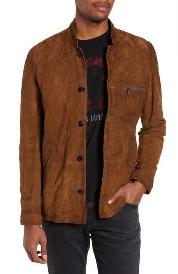John Varvatos Star USA Suede Regular Fit Work Coat