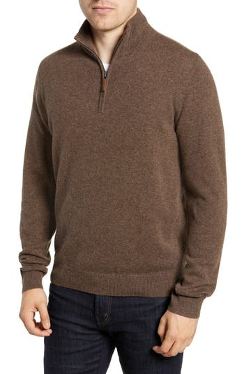 Nordstrom Men's Shop Regular Fit Cashmere Quarter Zip Pullover
