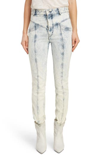 Isabel Marant '80s High Waist Straight Leg Jeans