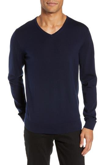 Nordstrom Men's Shop Regular Fit Merino Wool V-Neck Sweater