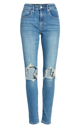Levi's® 721 Ripped High Waist Skinny Jeans