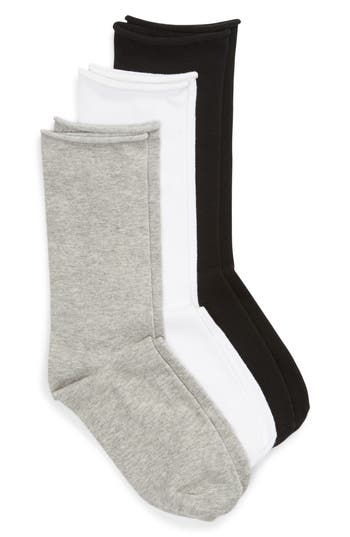 Treasure & Bond Everyday 3-Pack Roll Top Socks