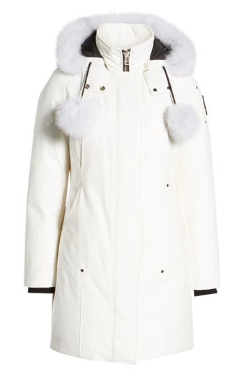 Moose Knuckles 'Stirling' Down Parka with Genuine Fox Fur Trim