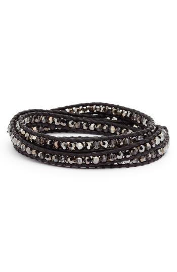 Chan Luu Beaded Leather Wrap Bracelet