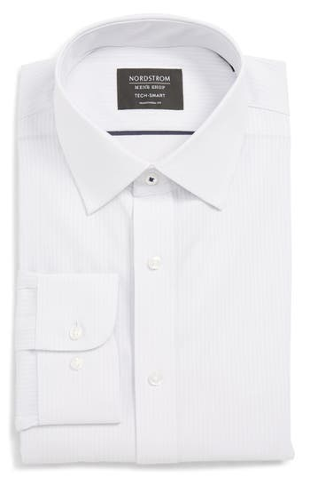 Nordstrom Men's Shop Tech-Smart Traditional Fit Stretch Stripe Dress Shirt