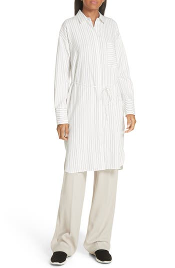 Vince Pinstripe Shirtdress