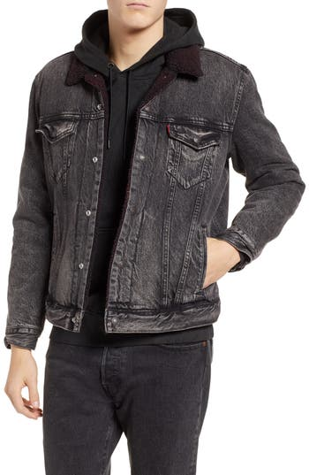 Levi's® x Justin Timberlake Faux Shearling Collar Trucker Jacket