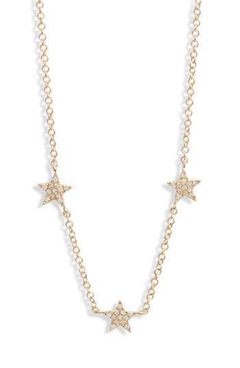 EF COLLECTION Three-Star Diamond Choker Necklace