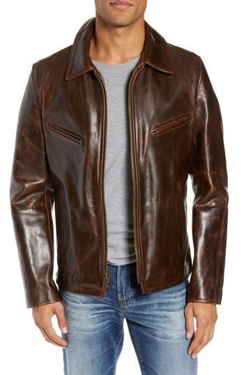 Schott NYC Waxy Cowhide Leather Moto Jacket
