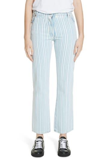 Off-White Diagonal Stripe Crop Jeans