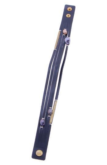Nakamol Design Leather & Freshwater Pearl Snap Wrap Bracelet