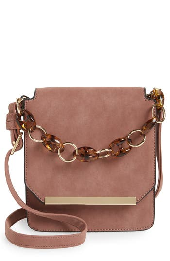 Violet Ray New York Faux Leather Crossbody Bag
