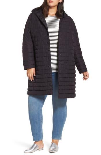 Halogen® Hooded Long Puffer Jacket