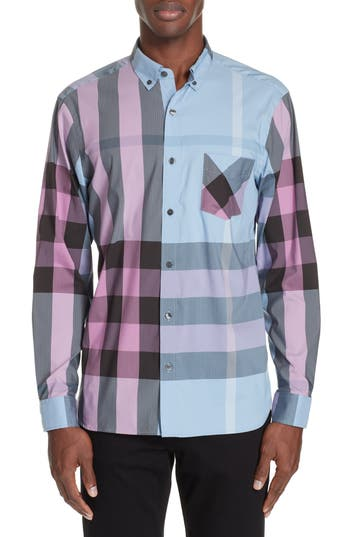 Burberry Thornaby Slim Fit Check Sport Shirt