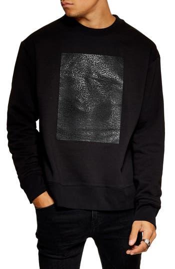 Topman Rubber Patch Crewneck Sweatshirt