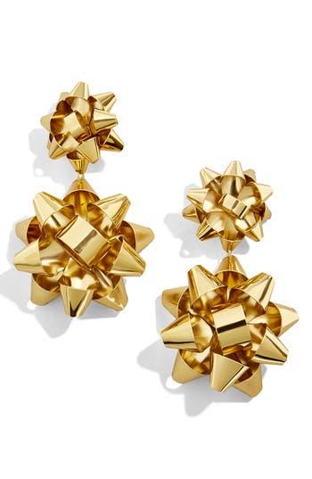 BaubleBar Holly Bow Drop Earrings