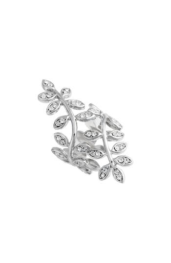 Lisa Freede Adjustable Crystal Vine Ring