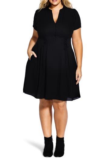 City Chic Laced Waist Dress