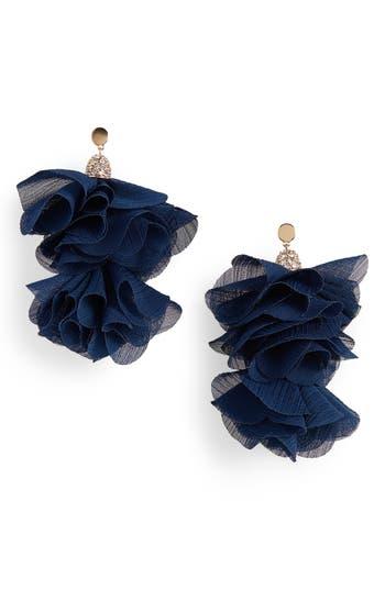 Canvas Jewelry Tulle Tassel Drop Earrings