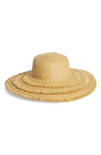 San Diego Hat Ultrabraid Frayed Floppy Hat