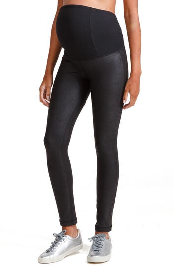 Ingrid & Isabel® Faux Leather Maternity Leggings