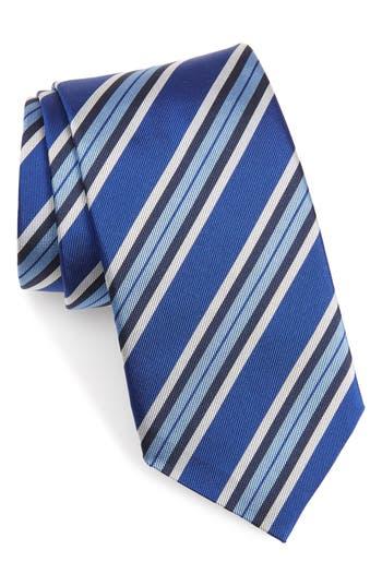 David Donahue Stripe Silk X-Long Tie
