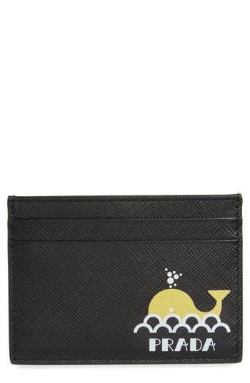 Prada Whale Logo Leather Card Case