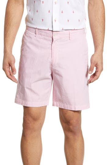 Peter Millar Regular Fit Pinstripe Linen & Cotton Shorts