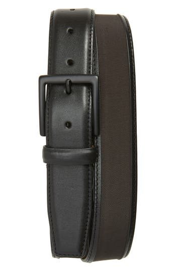 Cole Haan Nylon Inlay Leather Belt