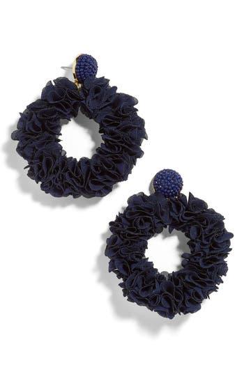BaubleBar Camellia Floral Hoop Drop Earrings
