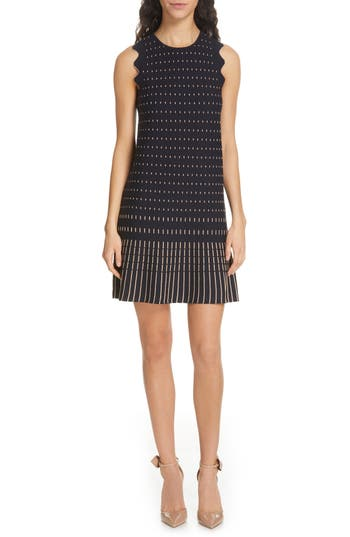 Ted Baker London Relioa Metallic Jacquard Knit Dress