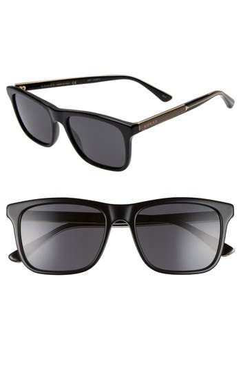 Gucci 55mm Polarized Sunglasses