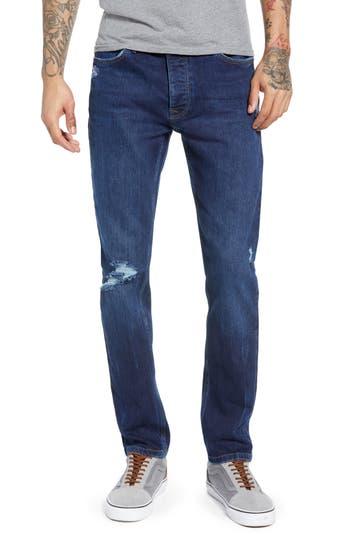 Topman Skinny Fit Distressed Jeans