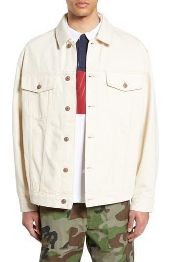 Topman Embroidered Denim Jacket