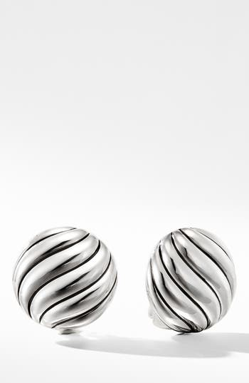 David Yurman Cable Stud Earrings in Sterling Silver
