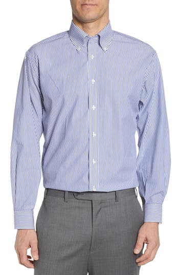 Nordstrom Men's Shop Tech-Smart Classic Fit Stretch Stripe Dress Shirt
