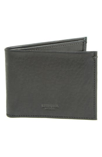 Shinola Slim Bifold Leather Wallet - Black