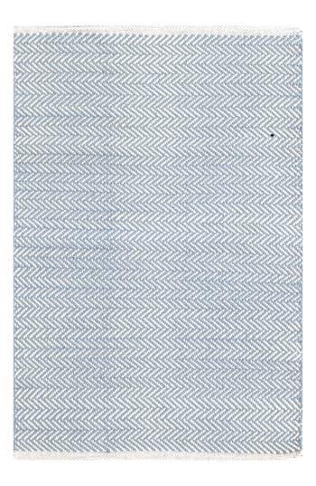 Dash & Albert Herringbone Rug, Size Swatch - Blue