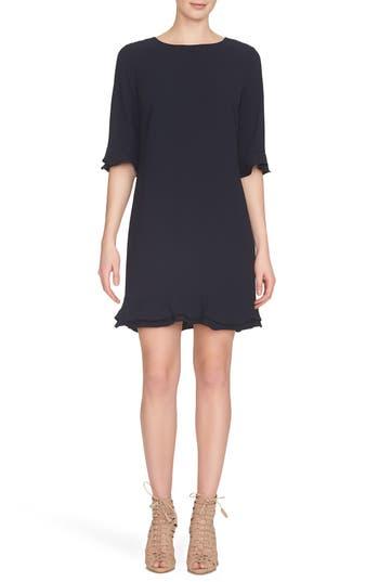 Women's Cece 'Kate' Ruffle Hem Shift Dress, Size 0 - Blue