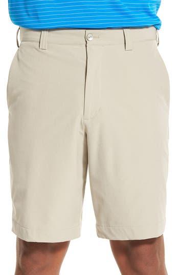Mens Big  Tall Cutter  Buck Bainbridge Drytec Flat Front Shorts Size 42  Beige