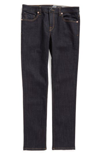 Boy's Volcom 'Solver' Straight Leg Denim Jeans