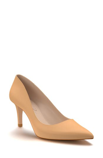 Shoes Of Prey Pointy Toe Pump, Beige