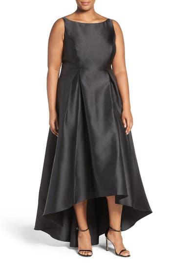 Plus Size Adrianna Papell Arcadia Sleeveless High/low Mikado Ballgown