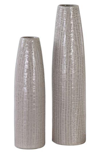 Uttermost Textured Ceramic Vases