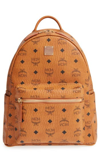 Mcm Small Stark - Visetos Backpack - Brown at NORDSTROM.com