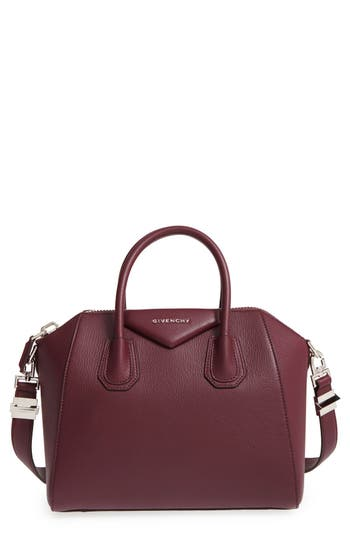 Givenchy 'Small Antigona' Leather Satchel - Red