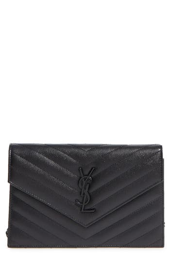 Saint Laurent Quilted Leather Wallet on a Chain