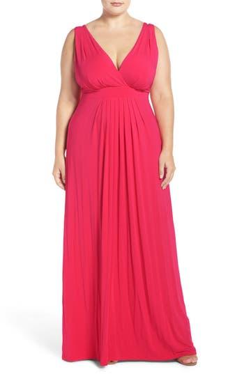 Plus Size Tart Chloe Empire Waist Maxi Dress, Red